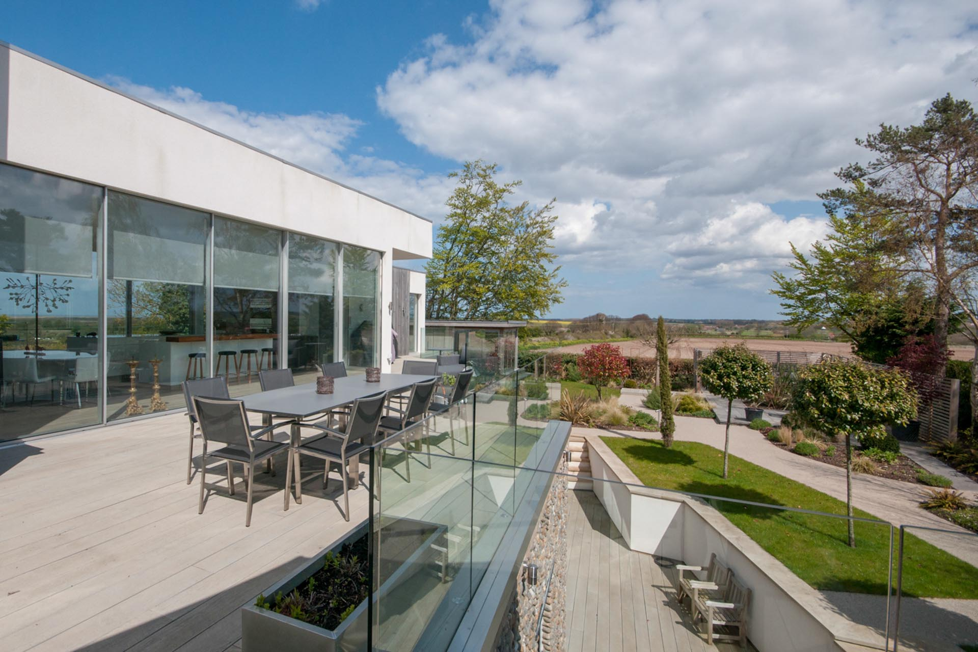 views of the norfolk country side from property