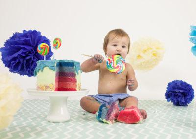 Quinn's 1st Birthday | Rainbow Cake Smash